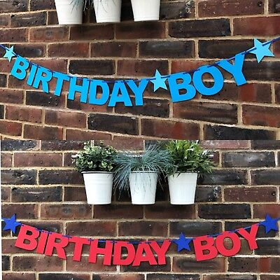 Bunting 1st 2nd 3rd Birthday party decoration personalised (1. Birthday Boy Banner)