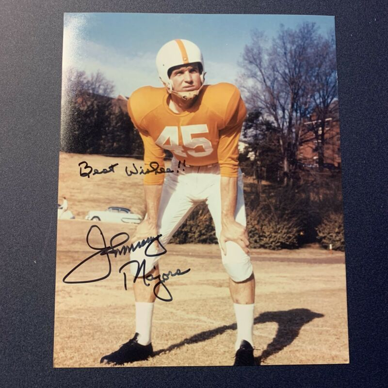 JOHNNY MAJORS HAND SIGNED 8x10 PHOTO TENNESSEE VOLUNTEERS AUTOGRAPHED VERY RARE