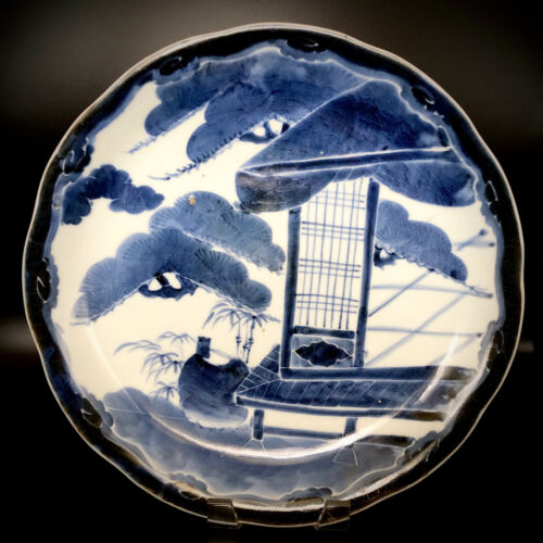 Edo Period Imari- Blue and White Japanese Arita Charger