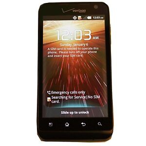 New Black Verizon LG Revolution VS910 4G LTE  Android Smartphone