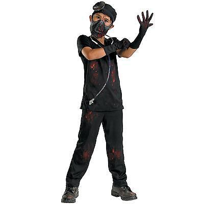 DR. DERANGED BOYS EVIL DOCTOR HALLOWEEN COSTUME CHILD SIZE LARGE 10-12](Evil Doctor Halloween Costume)