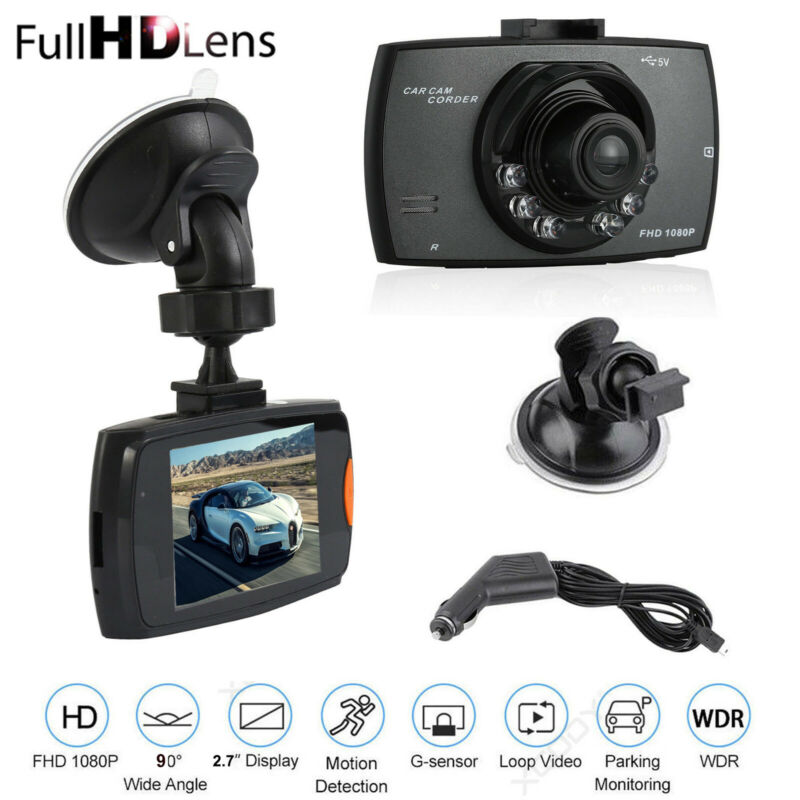 "2.7"" 1080P Car DVR Dash Cam Vehicle Video Recorder Camera G-Sensor Night Vision"