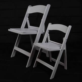 KIDS Wholesale priced Americana Chairs Folding Padded White Resin