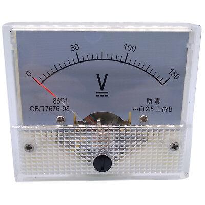 Us Stock Analog Panel Volt Voltage Meter Voltmeter Gauge 85c1 0-150v Dc