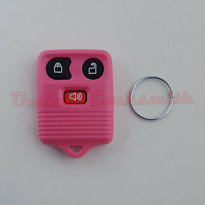 Keyless Entry Remote Alarm Replacement For Ford 3 Buttons DIY Programming Pink
