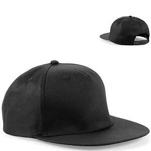 Plain Black Snapback 0349d871682