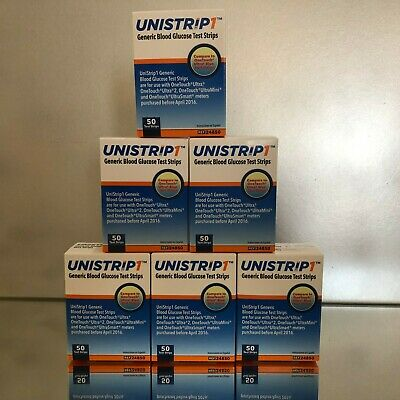 Unistrip 1 Blood Glucose Test Strips 300 Qty.  Exp 03/2021.