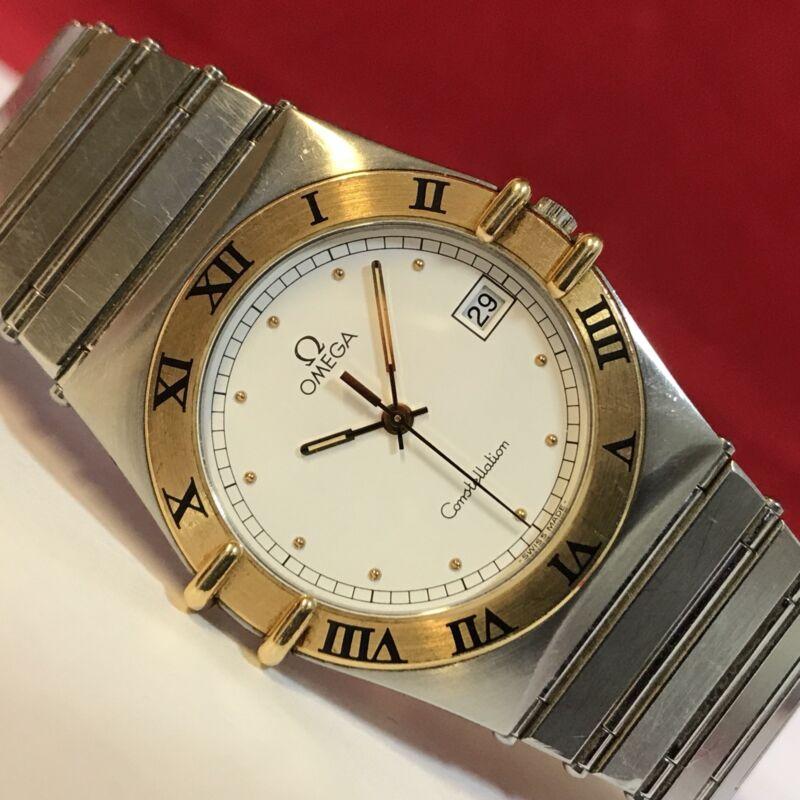 OMEGA Constellation 1448/431 Stahl/Gold 18K/750er Herren Armbanduhr Quarz 35mm