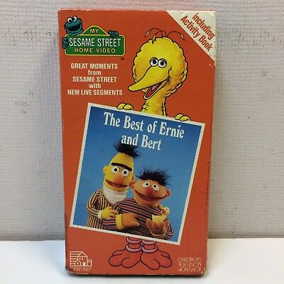 HTF‼ My Sesame Street Home Video • The Best of Ernie and Bert VHS 1988 FREE
