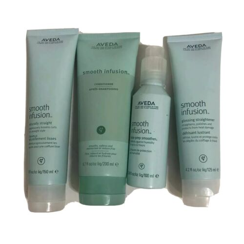 Bundle of 4 Aveda Hair Care Products - Smooth Infusion Strai