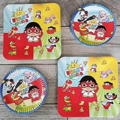 Cupcake Party Plates (RYANS WORLD CUPCAKE FOIL LATEX PLATES CUPS BANNERS DECORATION SUPPLIES)