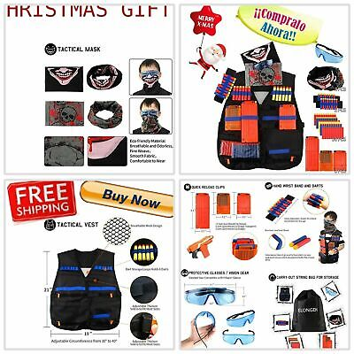 AMAZING Kids Tactical Vest Kit for Nerf Guns N-Strike Elite Complete Gift