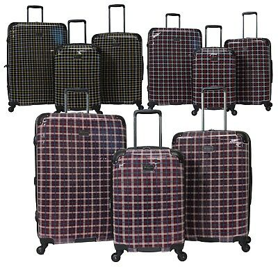 - Ben Sherman Glasgow Collection 3-Piece Lightweight Hardside Spinner Luggage Set