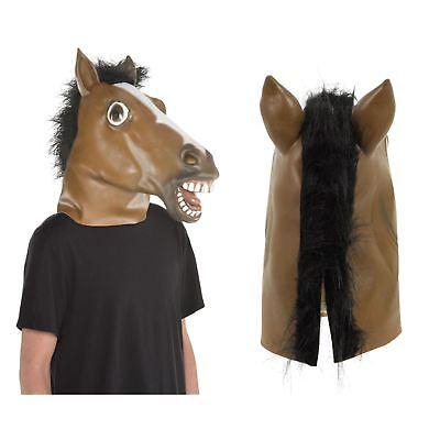 Adulti per Tutta la Testa Lattice Cavallo Maschera Costume Animale Accessorio