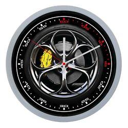 Wall Clock Wall Alfa Romeo Car Sports Collection Quadrant Clock