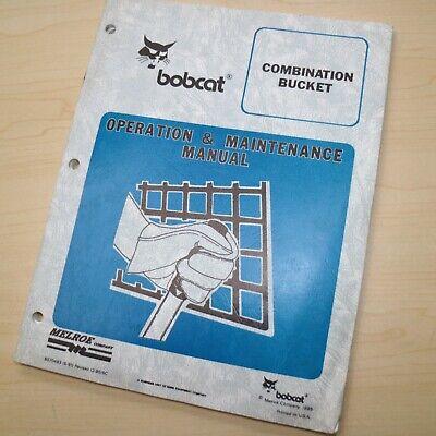 Bobcat Combination Bucket Owner Operator Maintenance Manual Operation Guide