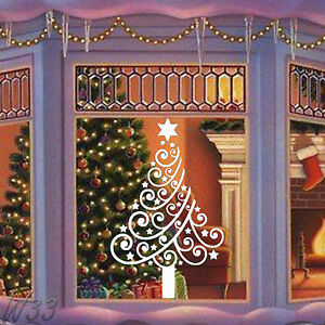 Christmas Tree Large Wall Art Decal Vinyl Sticker Ebay