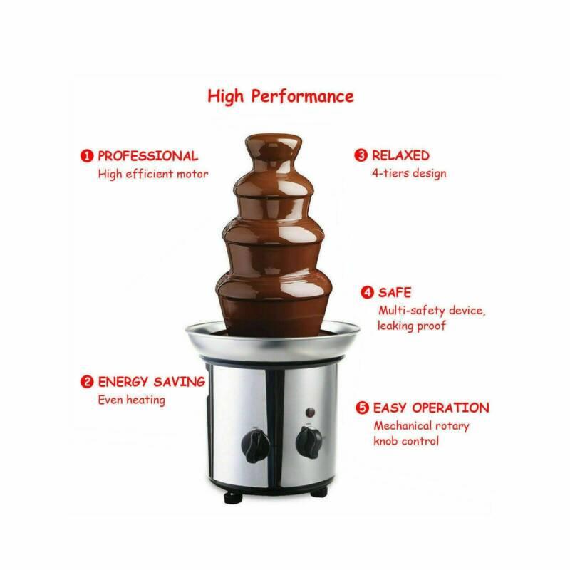 180W Chocolate Fondue Steel