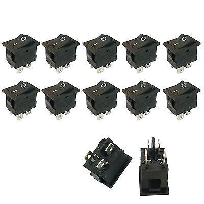 10 Pcs 4 Pin Onoff Dpst Boat Car Rocker Switch Button 6a Black Us Stock