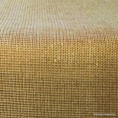 Antique Radio Grille/Speaker cloth, Gold Lurex, 2 for 1 sale, See Description