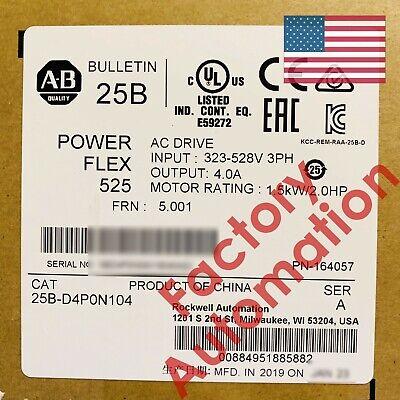 20182019 Us Stock Allen-bradley Powerflex 525 1.5kw Hp Ac Drive 25b-d4p0n104