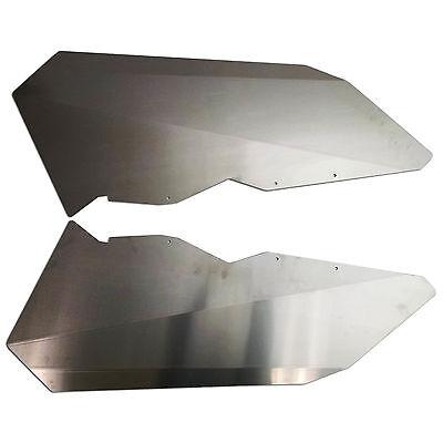 2017-18 Can-Am Maverick X3 Half Door Panel Inserts Bare Aluminum
