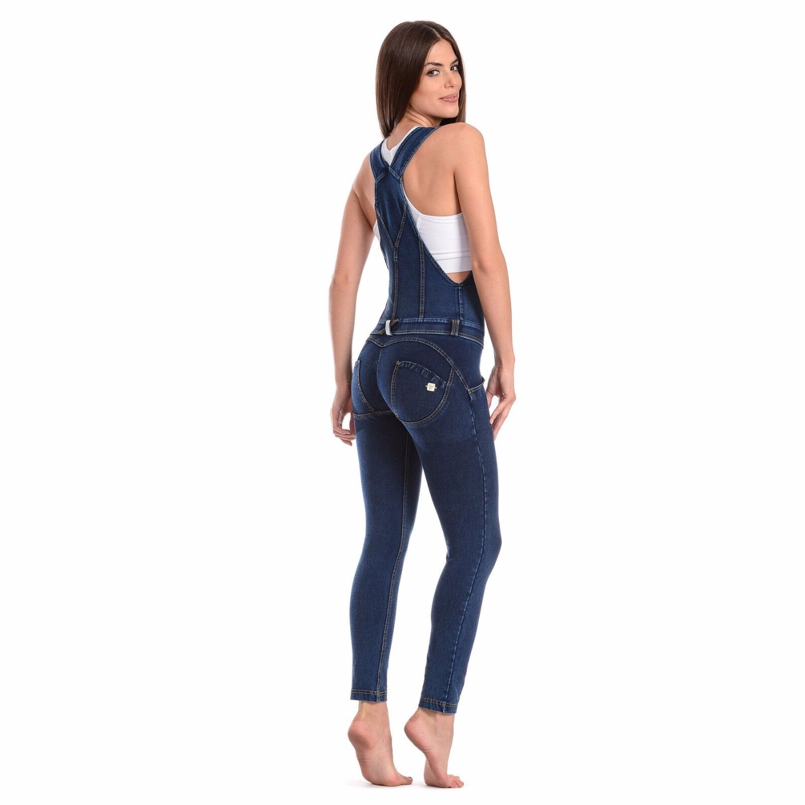 SCONTO 10% FREDDY WR.UP WRUP16C002 SALOPETTE XXS XS S M L XL TUTA JEANS PUSH UP