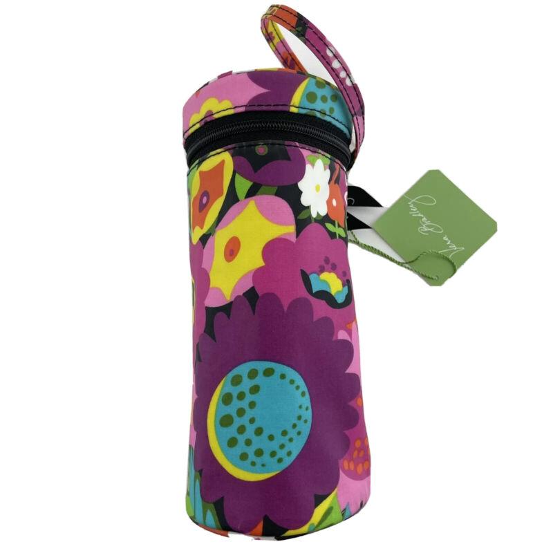 Vera Bradley Va Va Bloom Baby Bottle Caddy Bold Colors Pink Green Yellow 8x3 in.