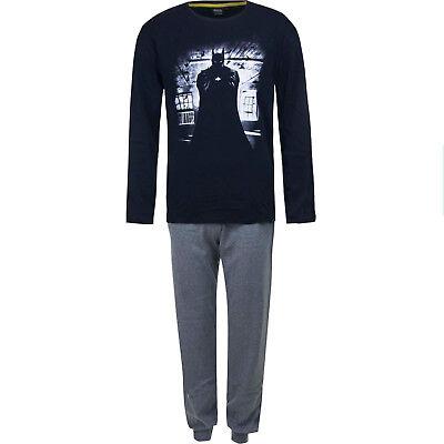 Herren Pyjama/Schlafanzug 100%Baumwolle  Batman   S    M   L   XL