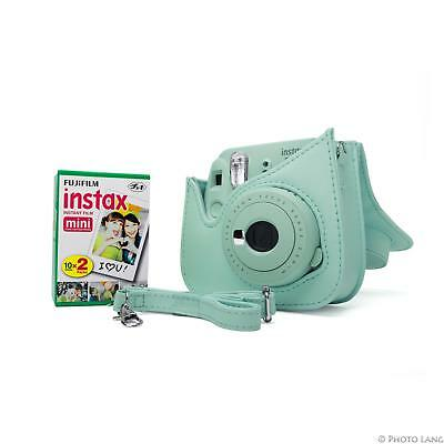 Fuji Instax Mini 9 ice blue Fujifilm Sofortbildkamera Sofortbild kit 1DP Film