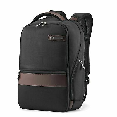 Samsonite Kombi Small Business Backpack with Smart Sleeve, Black/Brown