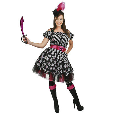 Adult Women's Abby The Pirate Maiden Halloween Costume Skull Dress Headband](Pirate Maiden Costume)