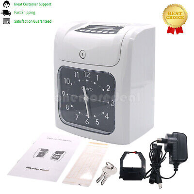 Employee Time Clock Recorder Clocking In Machine Attendance Check W 50 Cards