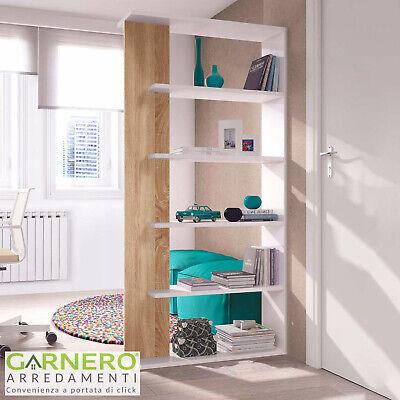 Libreria moderna scaffale bianca legno ALINE ripiani libri design soggiorno sala