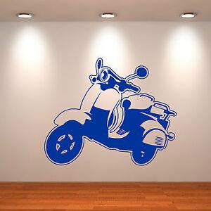 Lambretta-Scooter-Vespa-MOD-ADHESIVO-de-vinilo-para-pared-habitacion