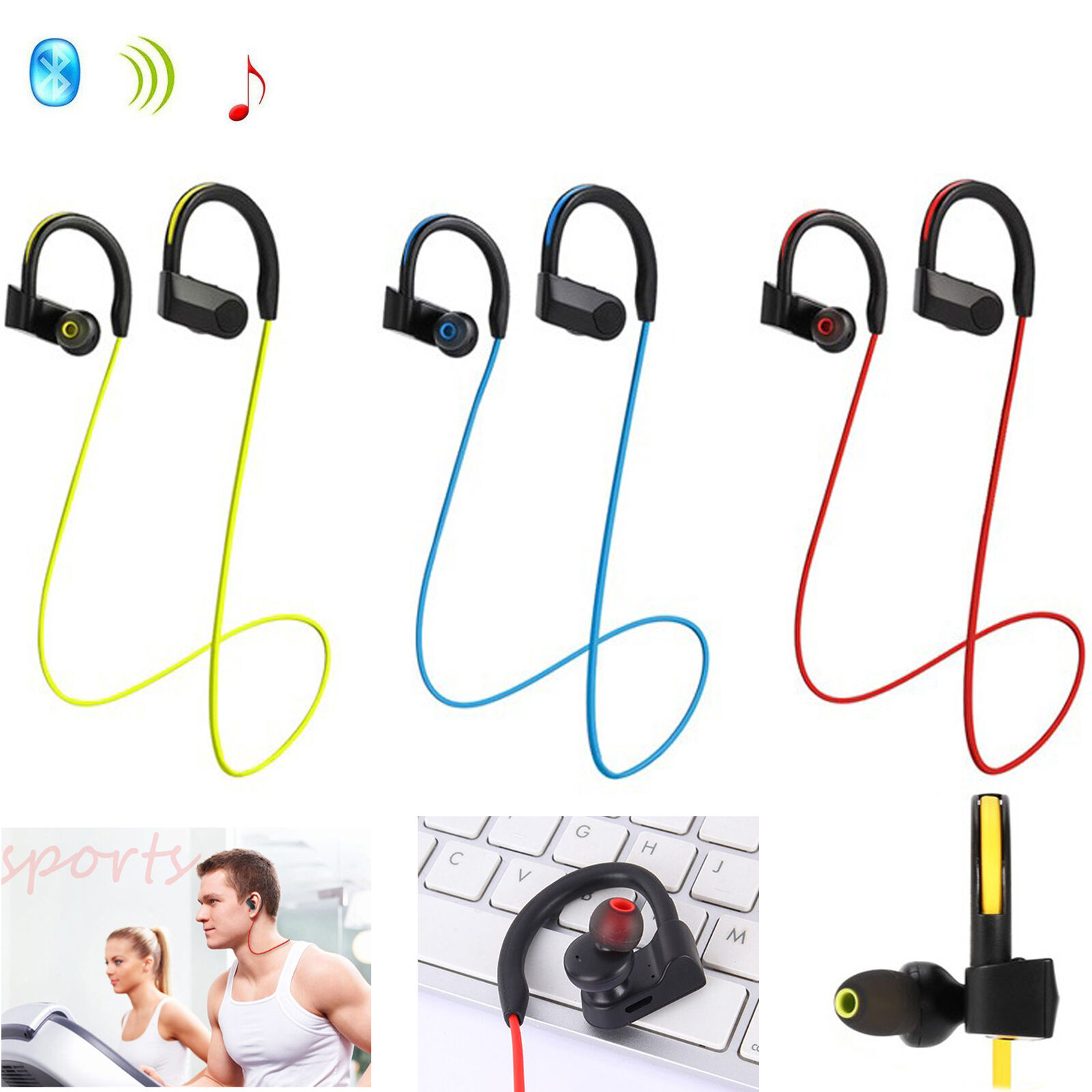 bluetooth headset wireless stereo earpiece for iphone. Black Bedroom Furniture Sets. Home Design Ideas