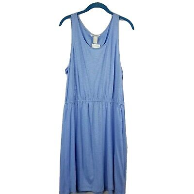 H&M Women's Size Large Blue Sleeveless Dress