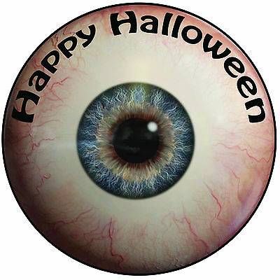 Halloween Eyeball Cake Topper - Easy Pre-cut Round 8