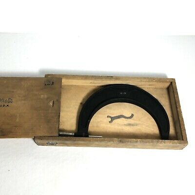 Brown And Sharpe No.67rs 4-5 Micrometer Wood Box A14
