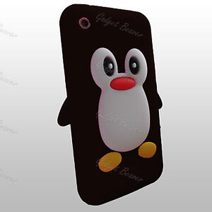 Fits,iPhone 3 Case,3GS Cover, Silicone Skin, Fits Apple, New Cute Penguin Series