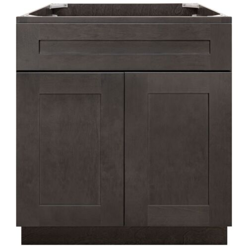 """30"""" Bathroom Vanity Base Cabinet Maple Dover Gray by LessCare"""