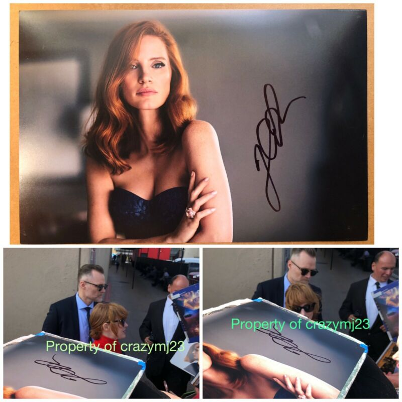 Jessica Chastain Signed Molly's Game Zero Dark Thirty IT 2 Autograph Exact PROOF