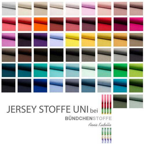 Jersey Stoff einfarbig | Uni Stoff | Top - Qualitäts - Baumwolljersey | Öko-Tex