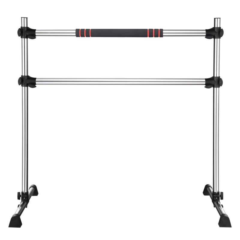 Ballet Barre Double Bar Stretch Dance Exercise Training Equipment Stand Home