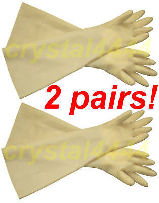 30mil 24 Heavy Duty Industrial Shoulder Length Latex Rubber Glove Long Cuff2
