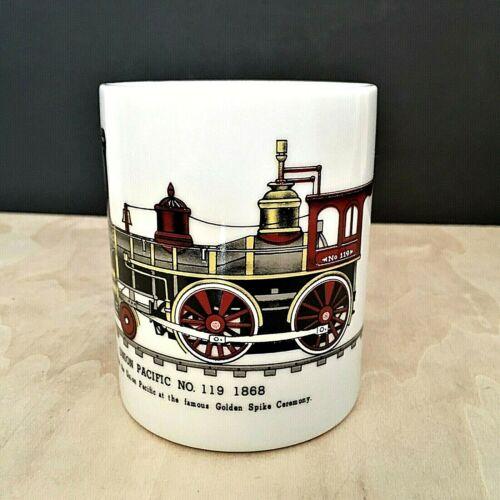 Union Pacific Railroad Ceramic Coffee Cup Mug Engine #119 Golden Spike Ceremony