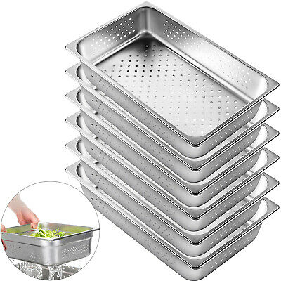 Perforated Steam Table Pan Hotel Full Size 4deep Stainless Steel Pans 6 Pack