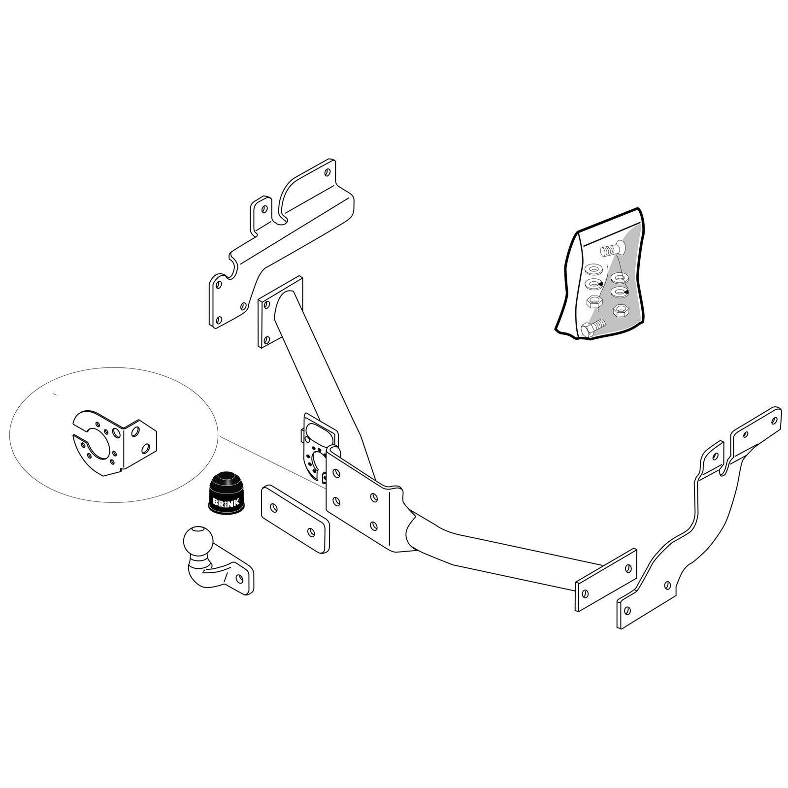 Towbar for Ford Transit Connect 2009-2013 Flange Tow Bar