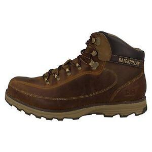 Caterpillar-Highbury-Hombre-Cuero-Marron-Cordones-Caminar-o-working-Botas