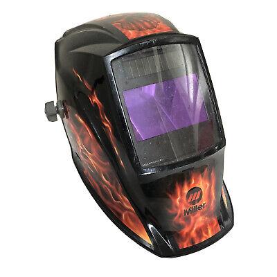 Miller Inferno Red Flames Digital Elite Auto Darkening Welding Helmet 2wy45